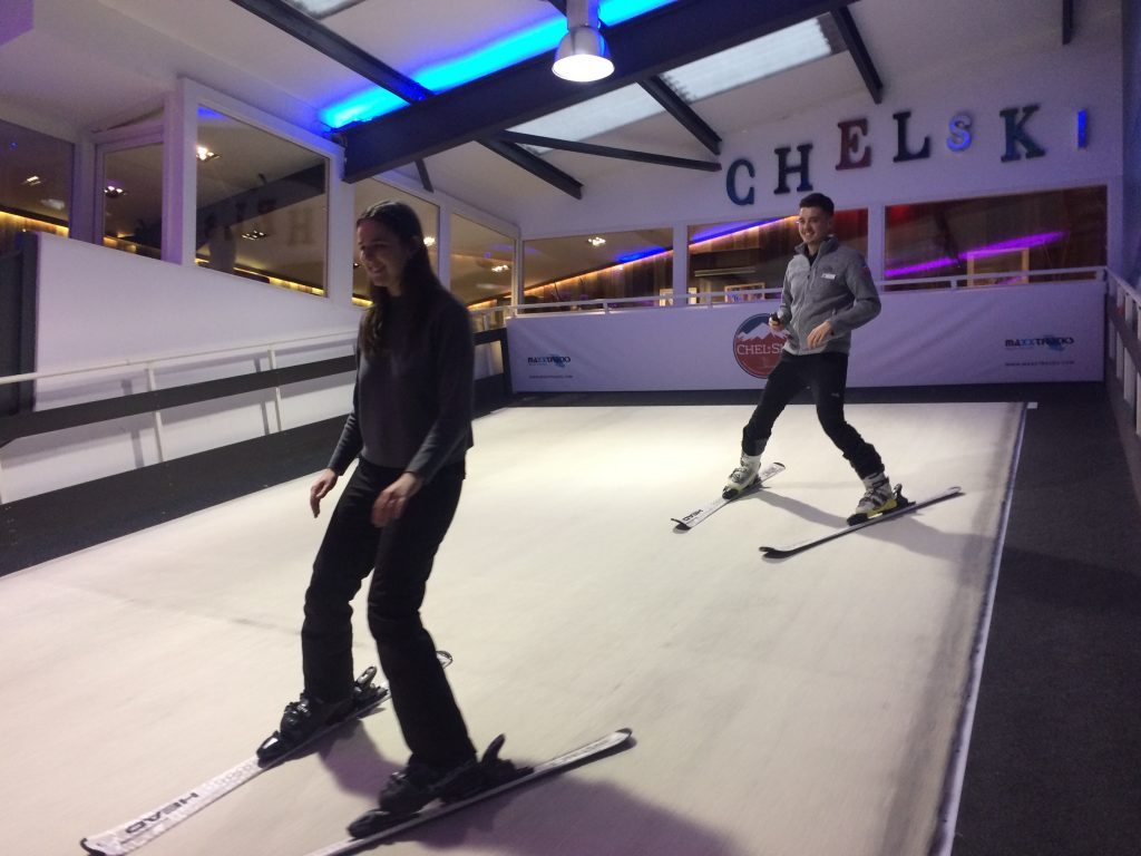 Getting ready for the Alps at Chel-Ski in London
