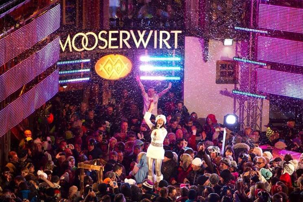 The Mooserwirt apres ski bar in St Anton