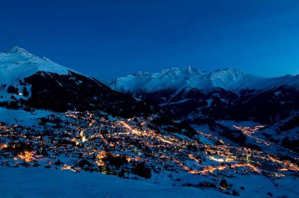 Verbier in the Swiss Alps
